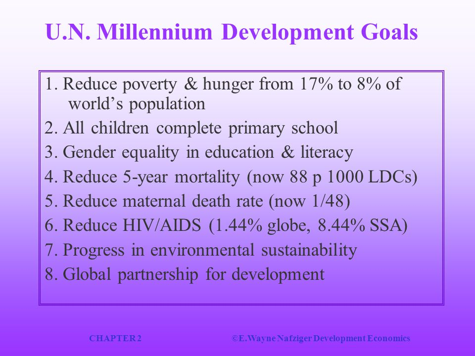 U.N. Millennium Development Goals