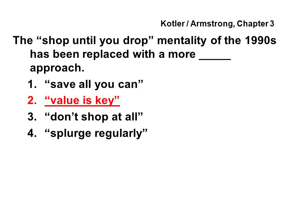 Kotler / Armstrong, Chapter 3