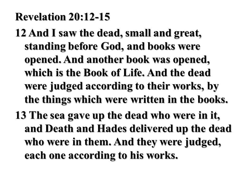 Revelation 20:12-15