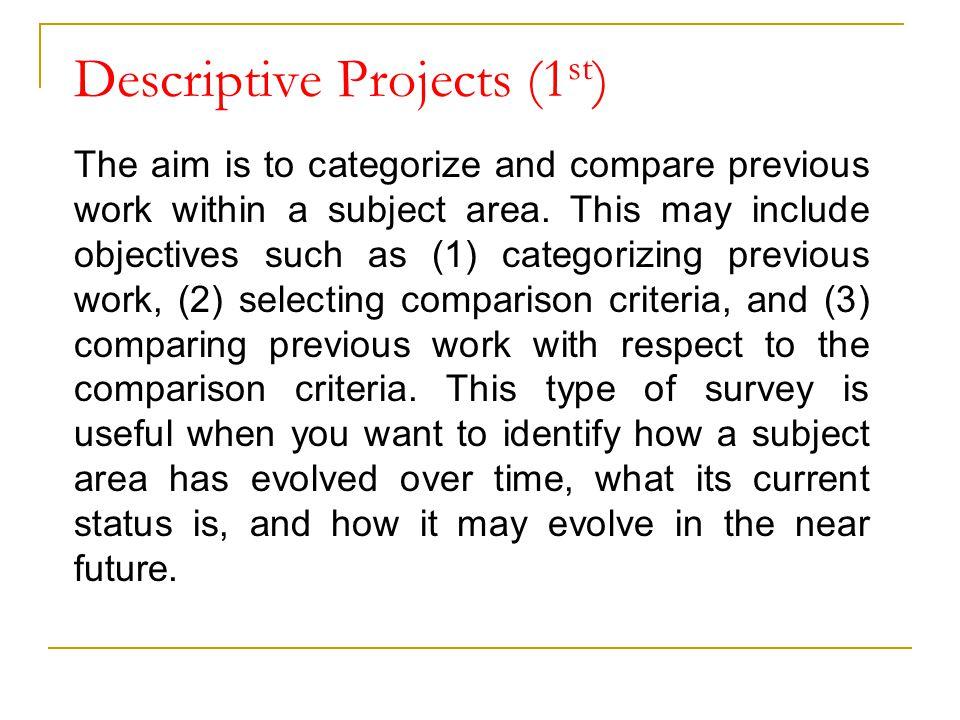 Descriptive Projects (1st)