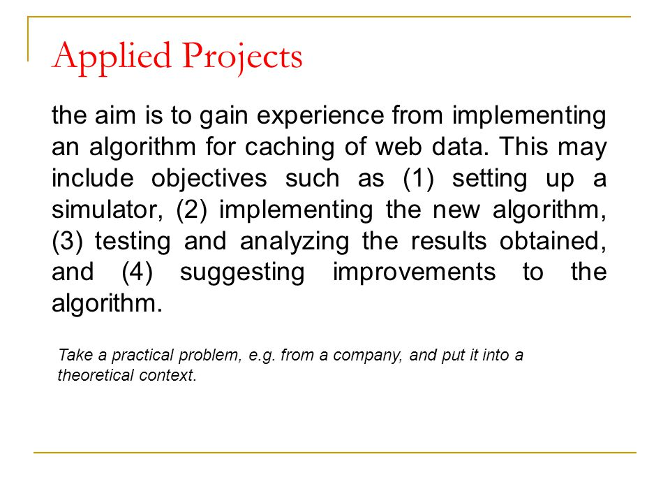 Applied Projects