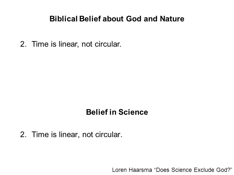 Biblical Belief about God and Nature