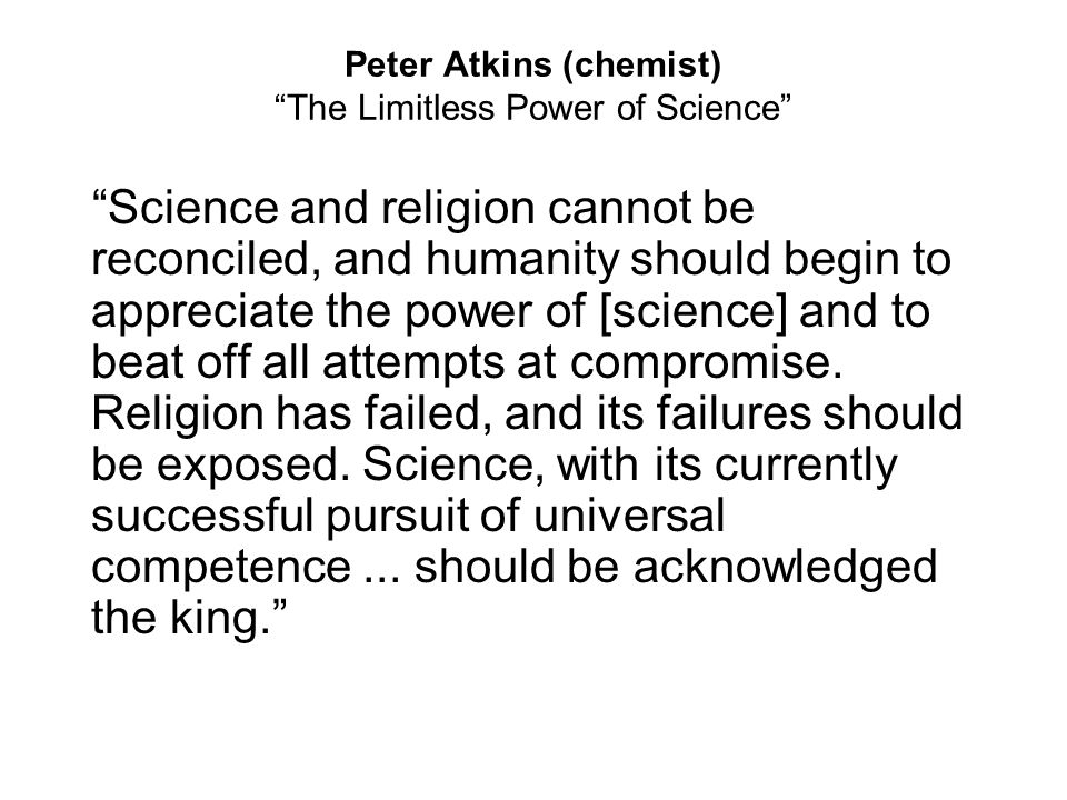 Peter Atkins (chemist) The Limitless Power of Science