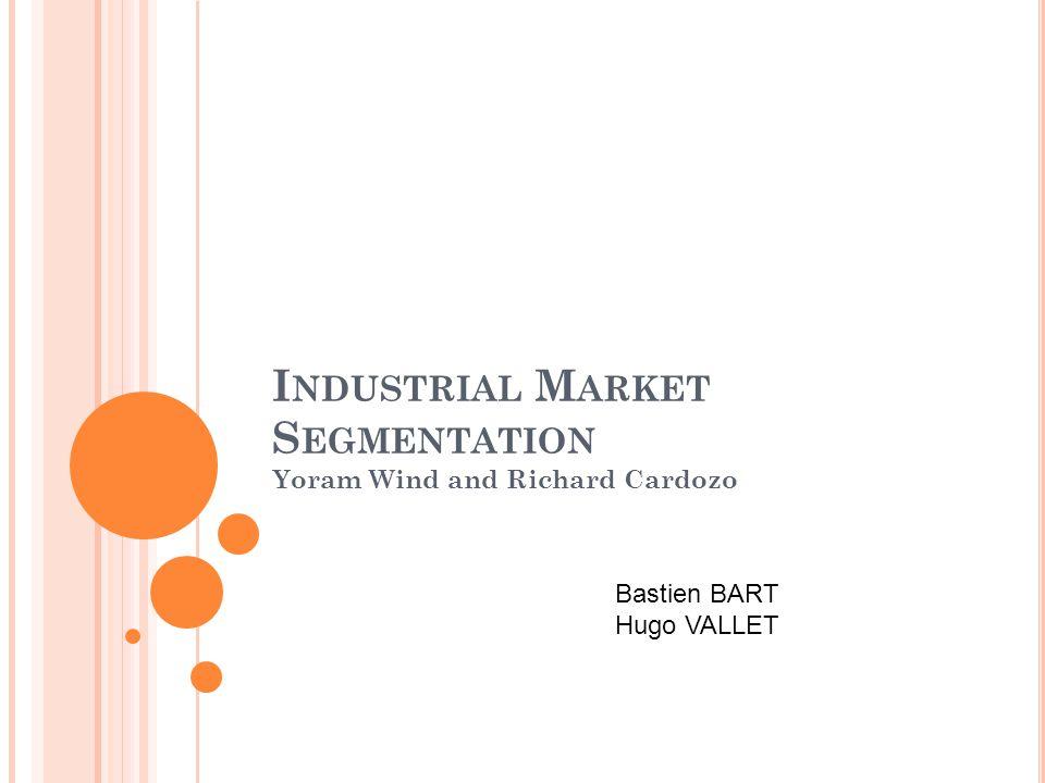 Industrial Market Segmentation
