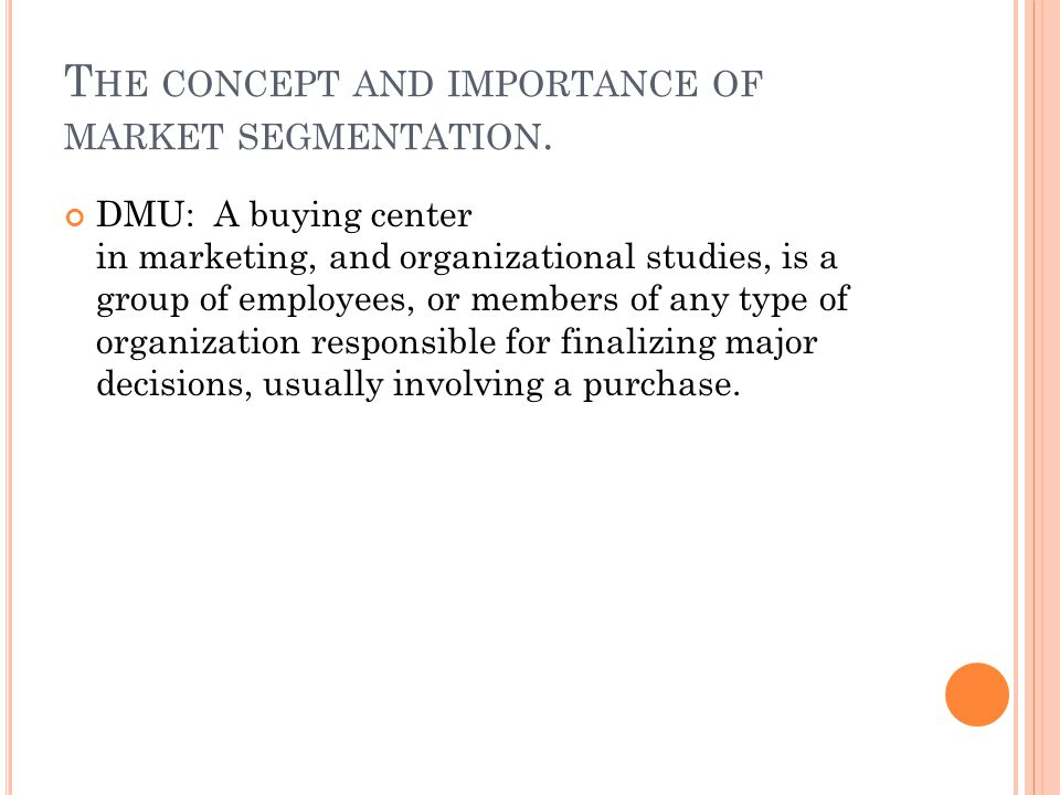 importance of market segmentation pdf