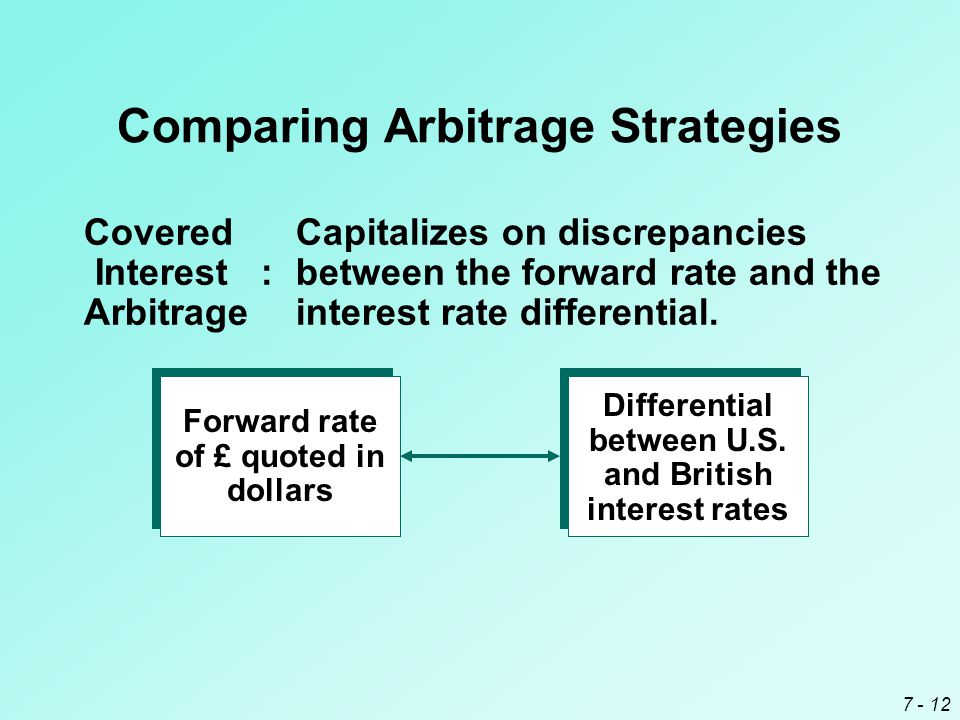 Comparing Arbitrage Strategies