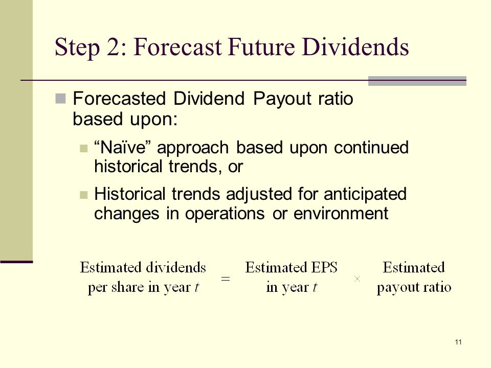 Step 2: Forecast Future Dividends