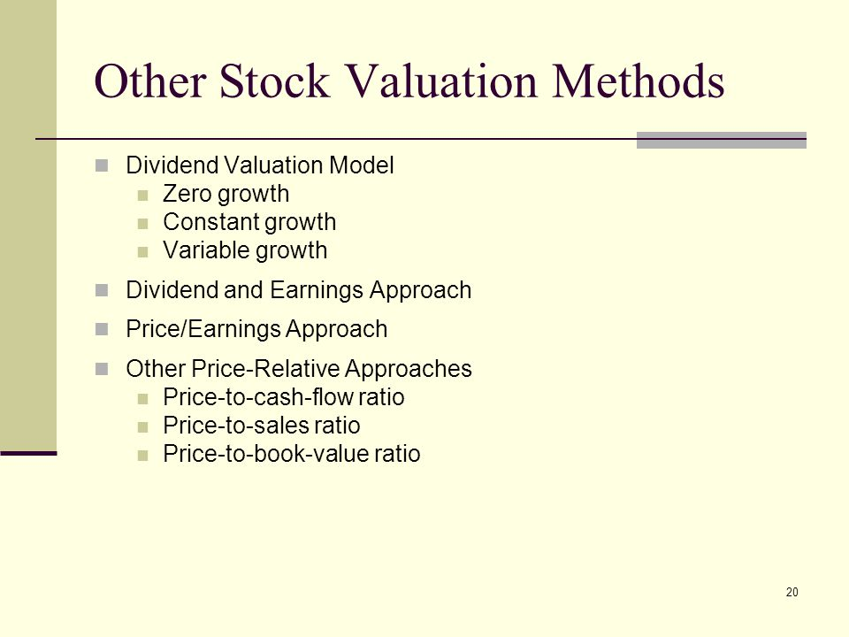 Other Stock Valuation Methods