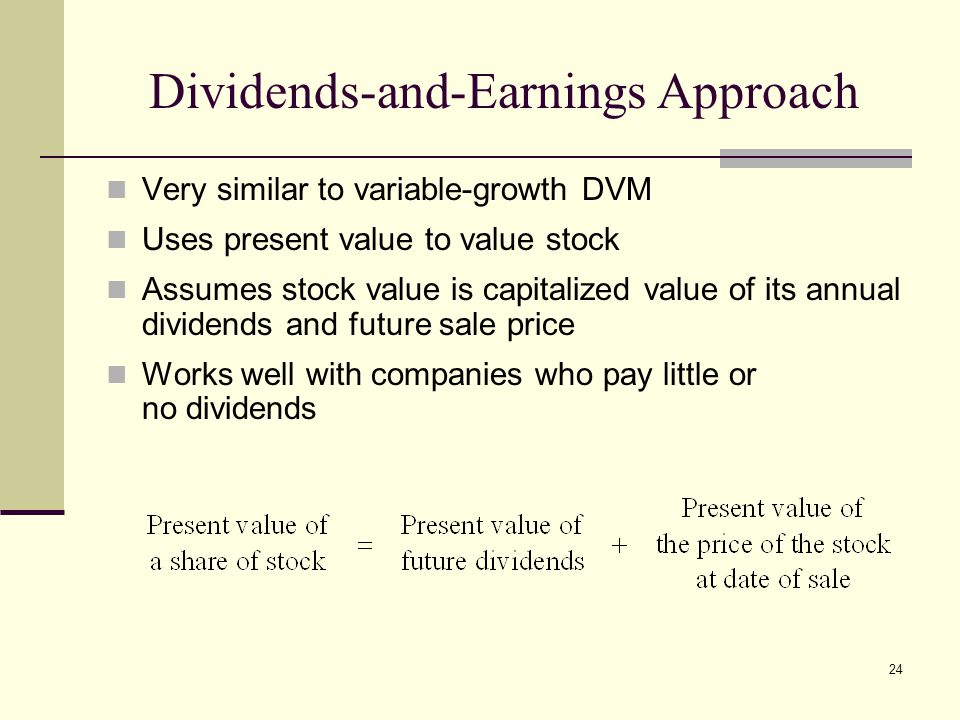 Dividends-and-Earnings Approach