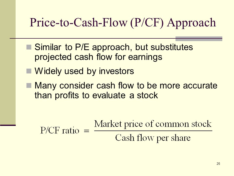 Price-to-Cash-Flow (P/CF) Approach