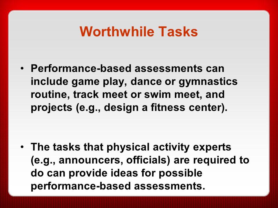 Worthwhile Tasks