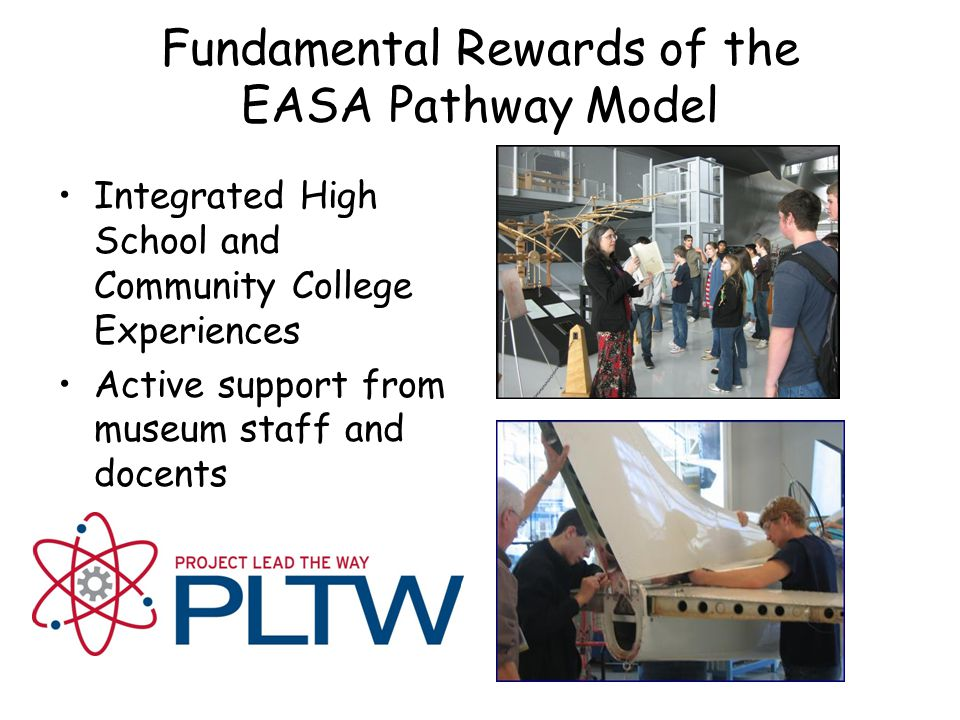 Fundamental Rewards of the EASA Pathway Model