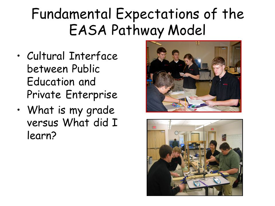 Fundamental Expectations of the EASA Pathway Model
