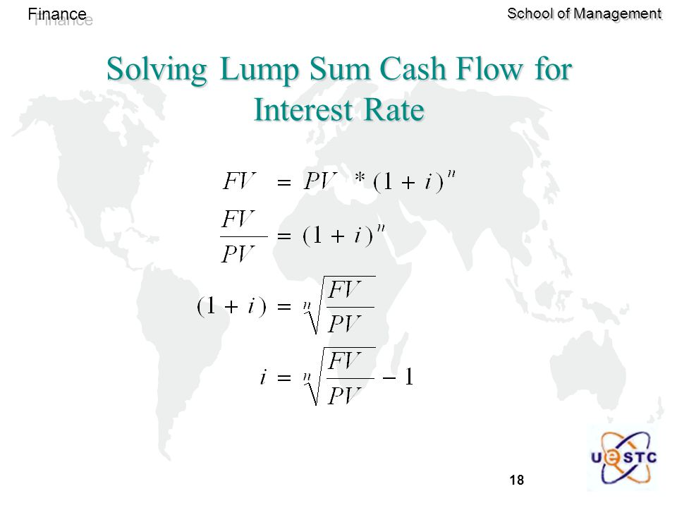 Solving Lump Sum Cash Flow for Interest Rate
