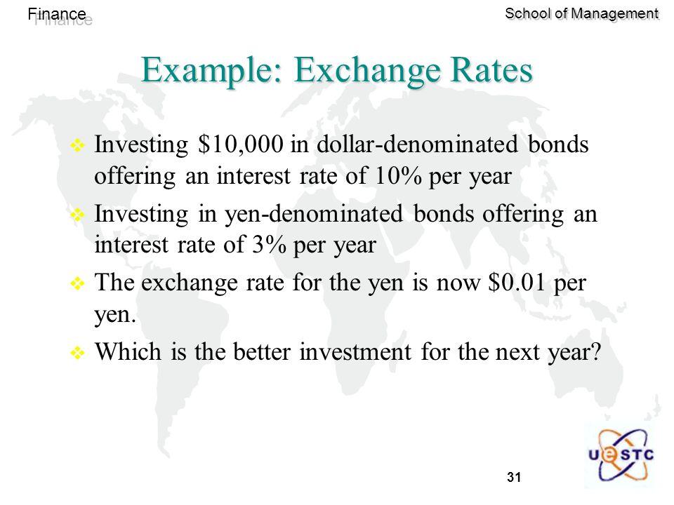 Example: Exchange Rates
