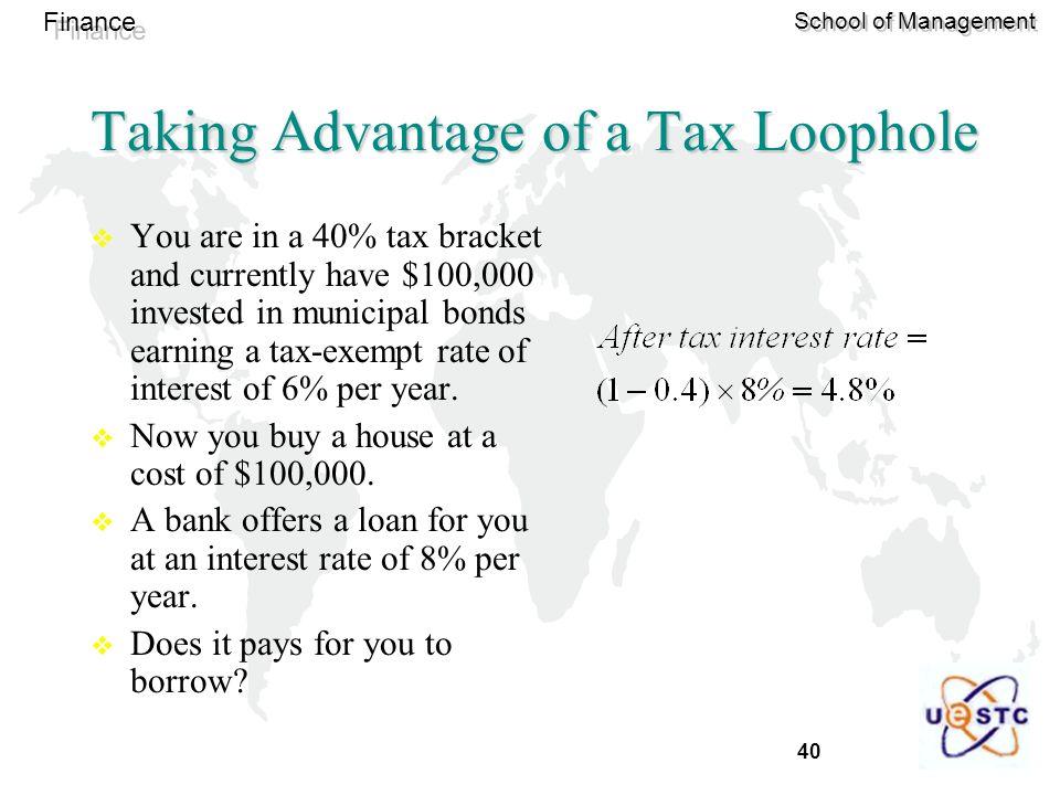 Taking Advantage of a Tax Loophole