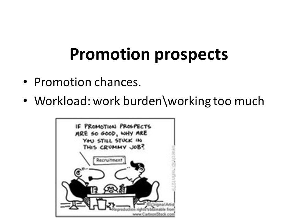 Promotion prospects Promotion chances.