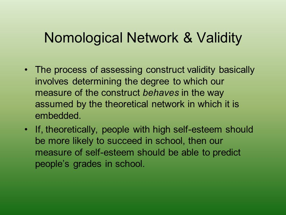 Nomological Network & Validity