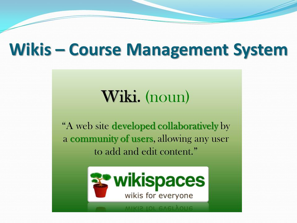 Wikis – Course Management System