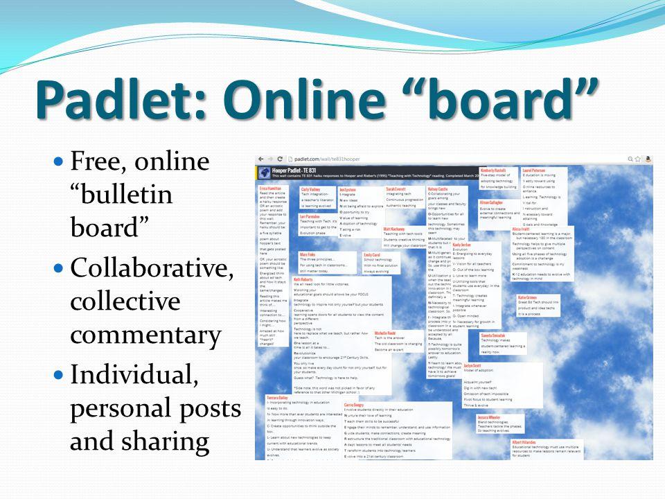 Padlet: Online board