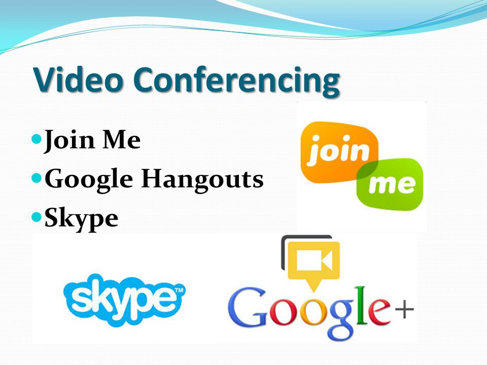 Video Conferencing Join Me Google Hangouts Skype