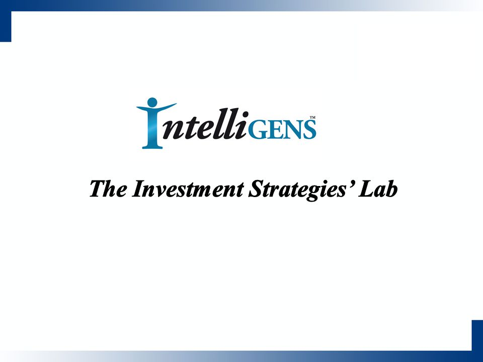 The Investment Strategies' Lab