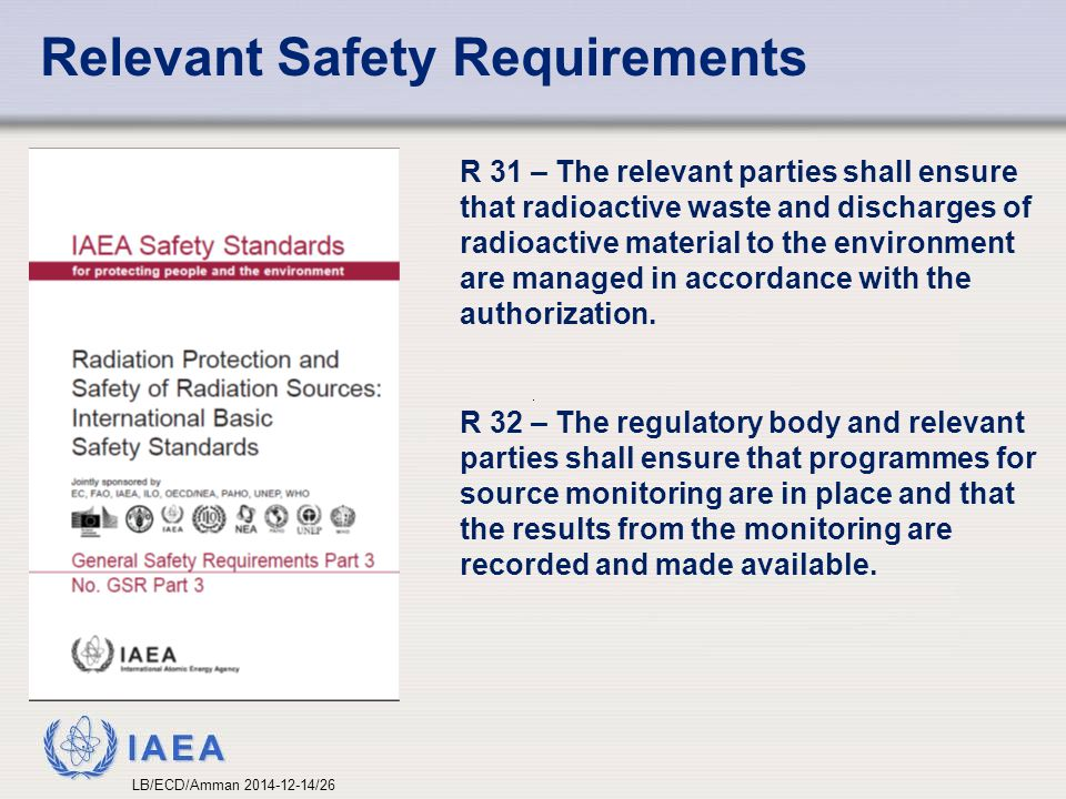Relevant Safety Requirements