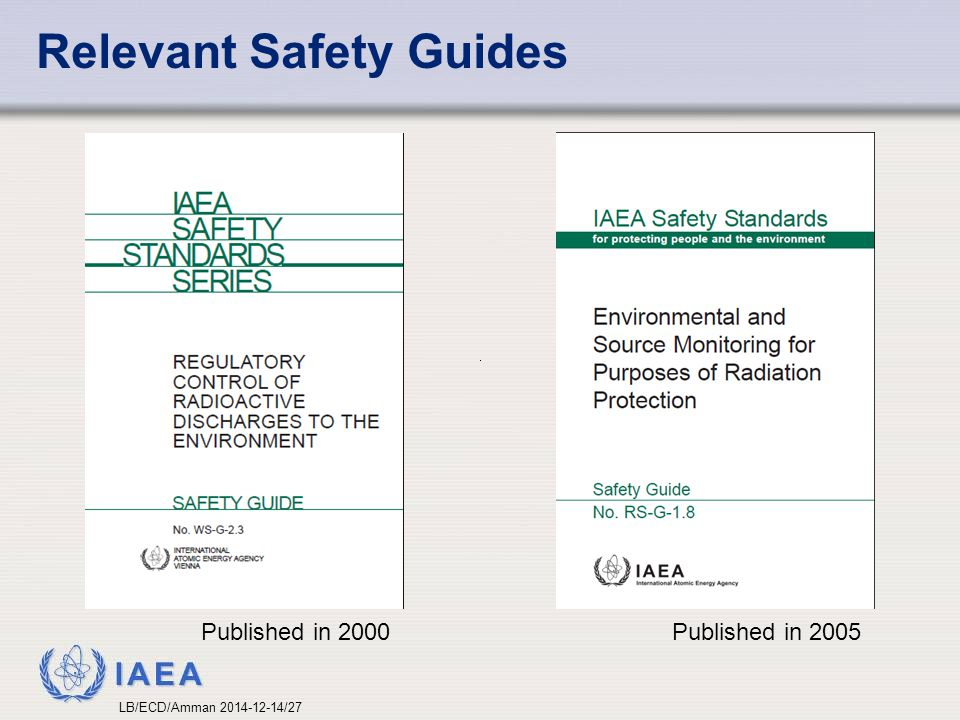 Relevant Safety Guides