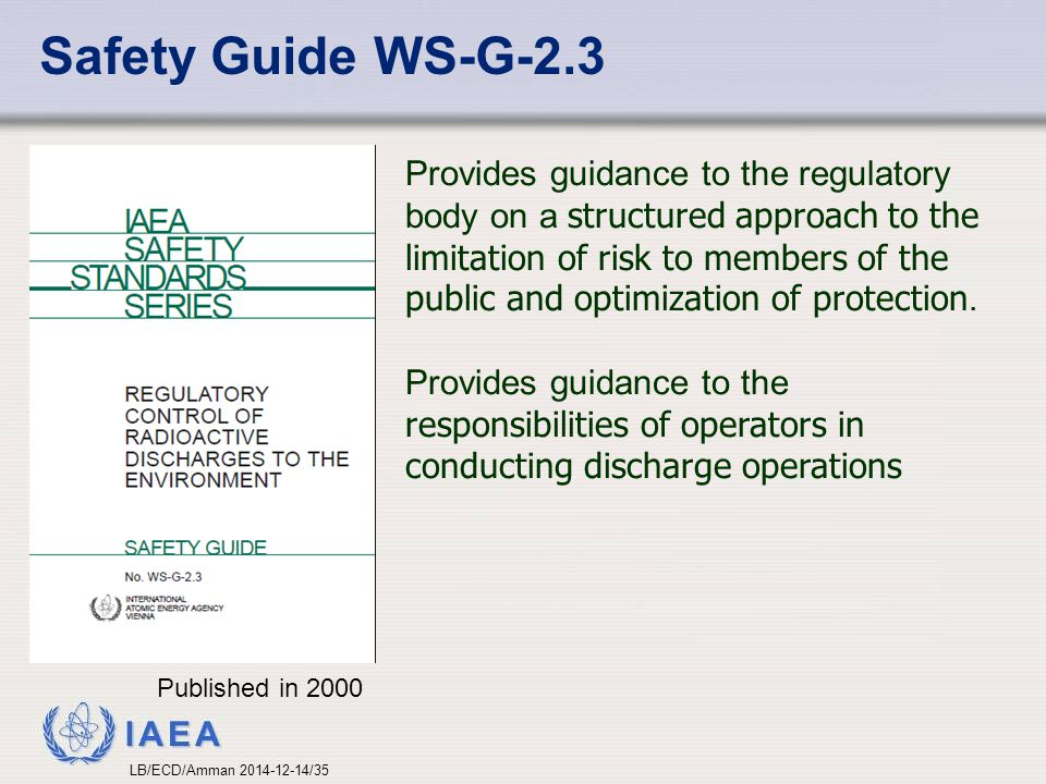 Safety Guide WS-G-2.3