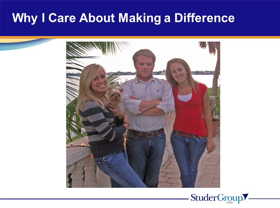 Why I Care About Making a Difference