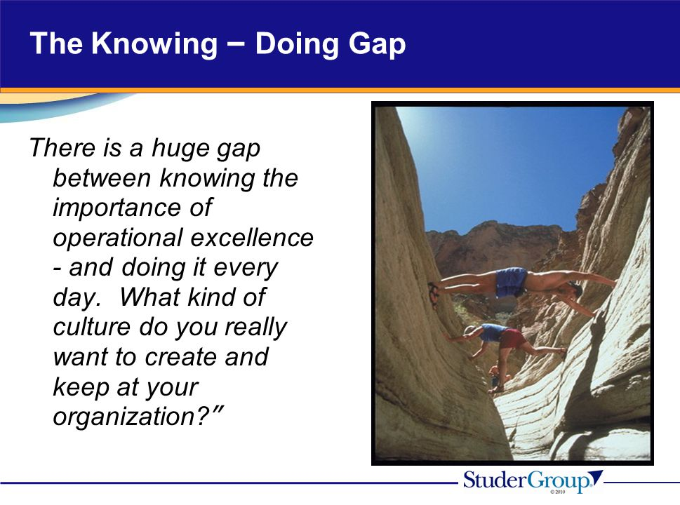The Knowing – Doing Gap