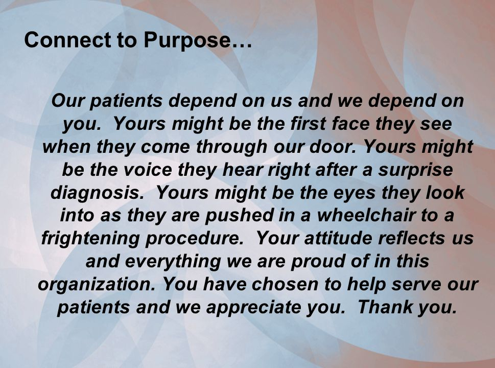 Connect to Purpose…