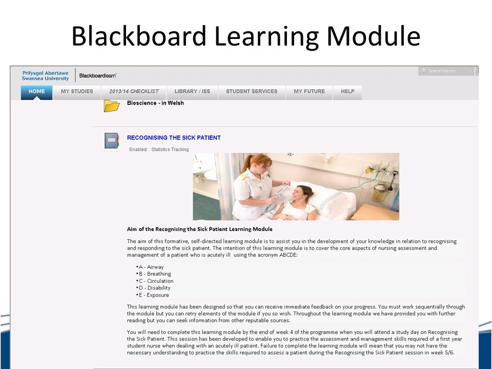 Blackboard Learning Module
