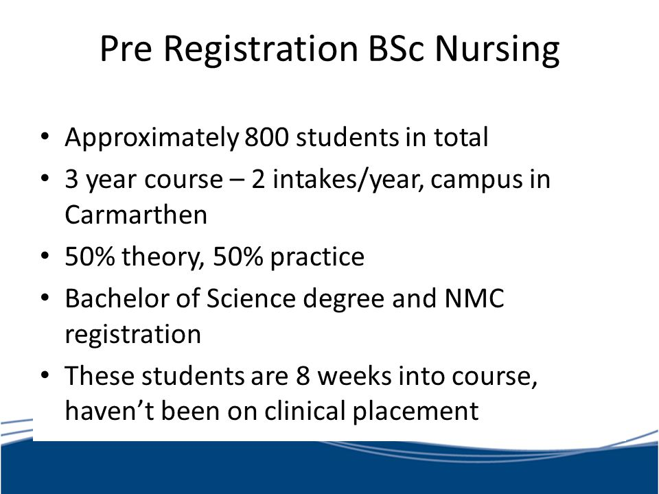 Pre Registration BSc Nursing