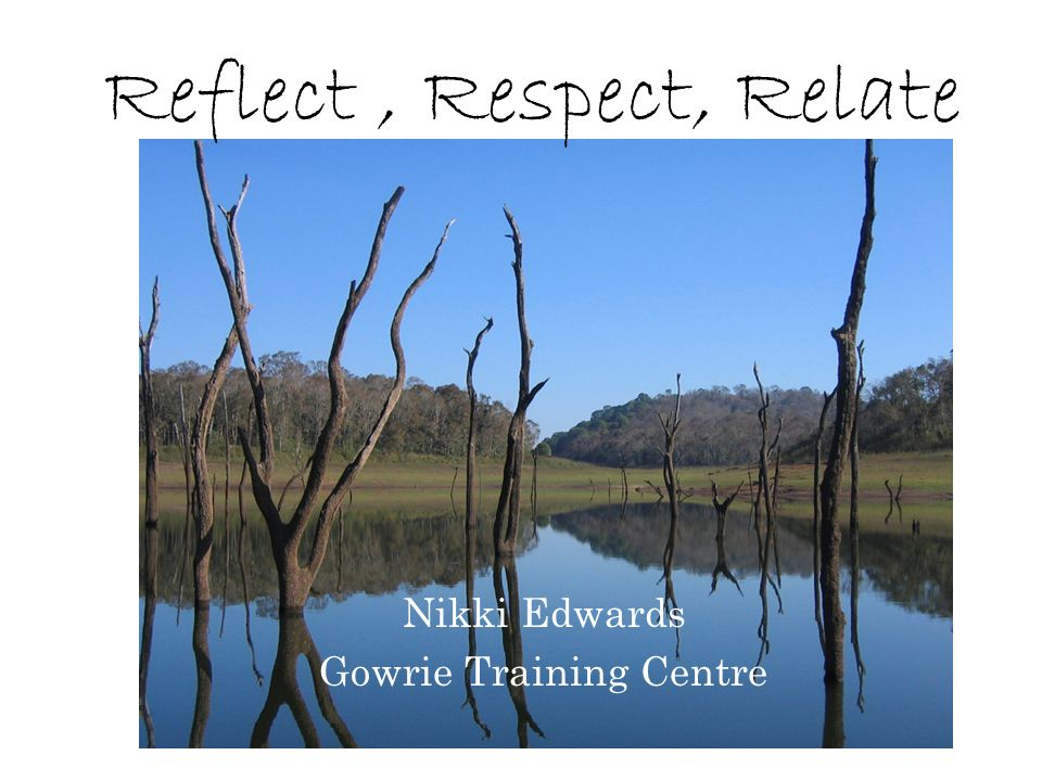 Reflect , Respect, Relate