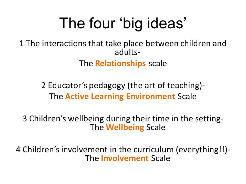 The four 'big ideas'