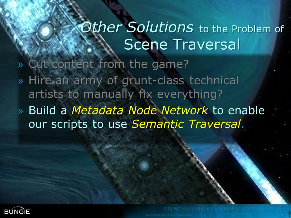 Other Solutions to the Problem of Scene Traversal