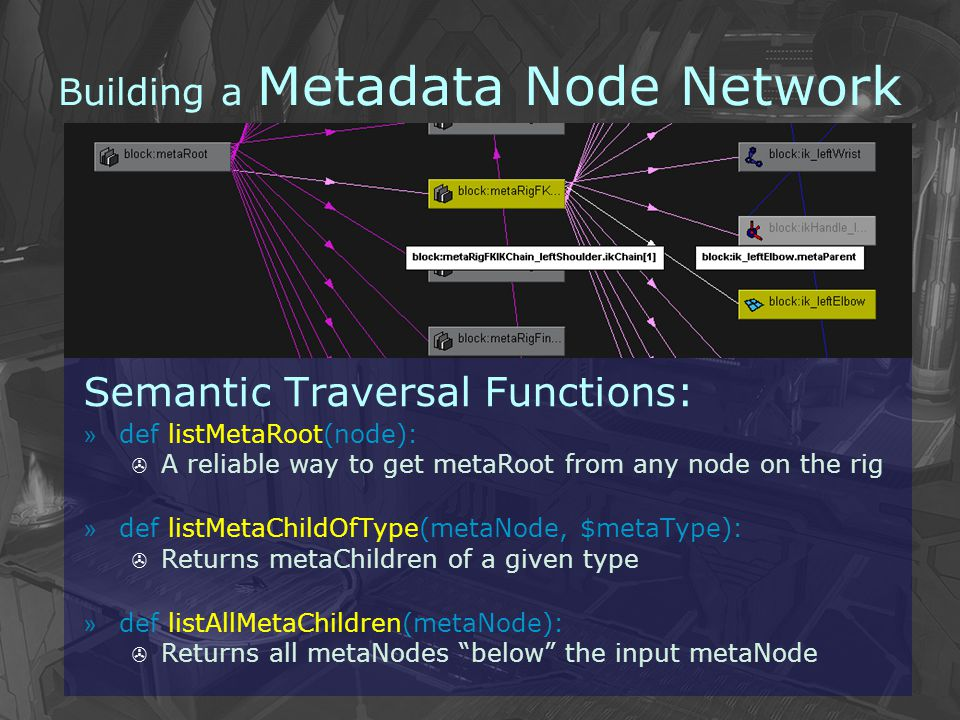 Building a Metadata Node Network