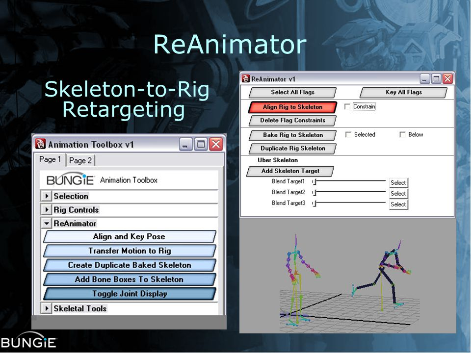 ReAnimator Skeleton-to-Rig Retargeting