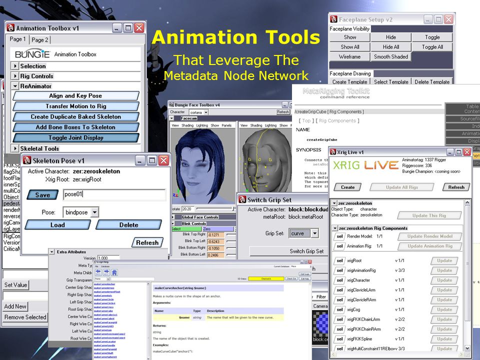 Animation Tools That Leverage The Metadata Node Network