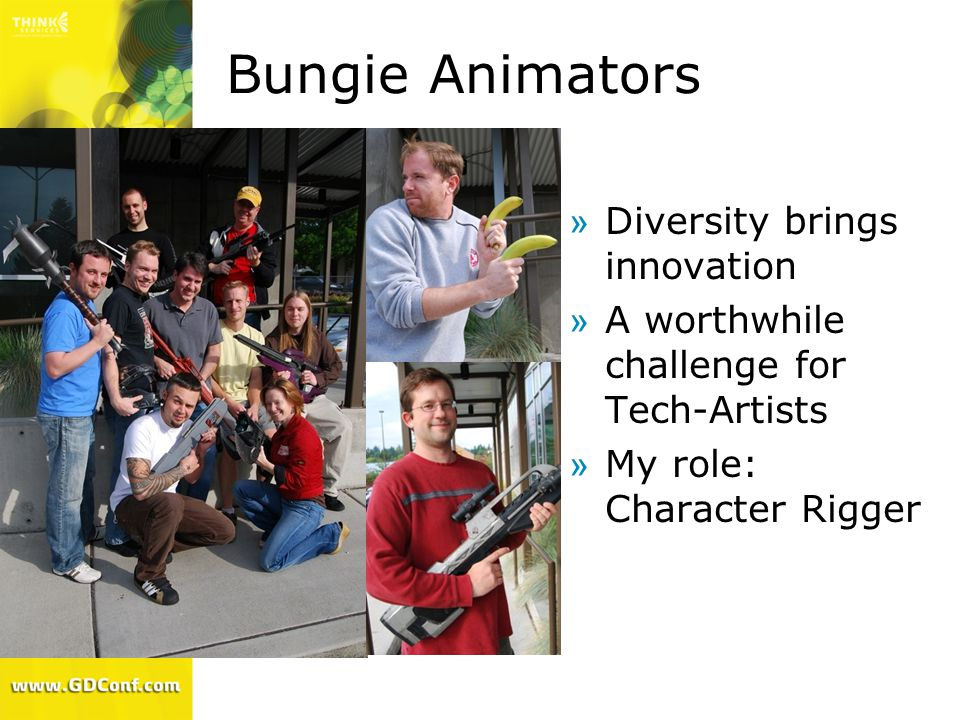 Bungie Animators Diversity brings innovation