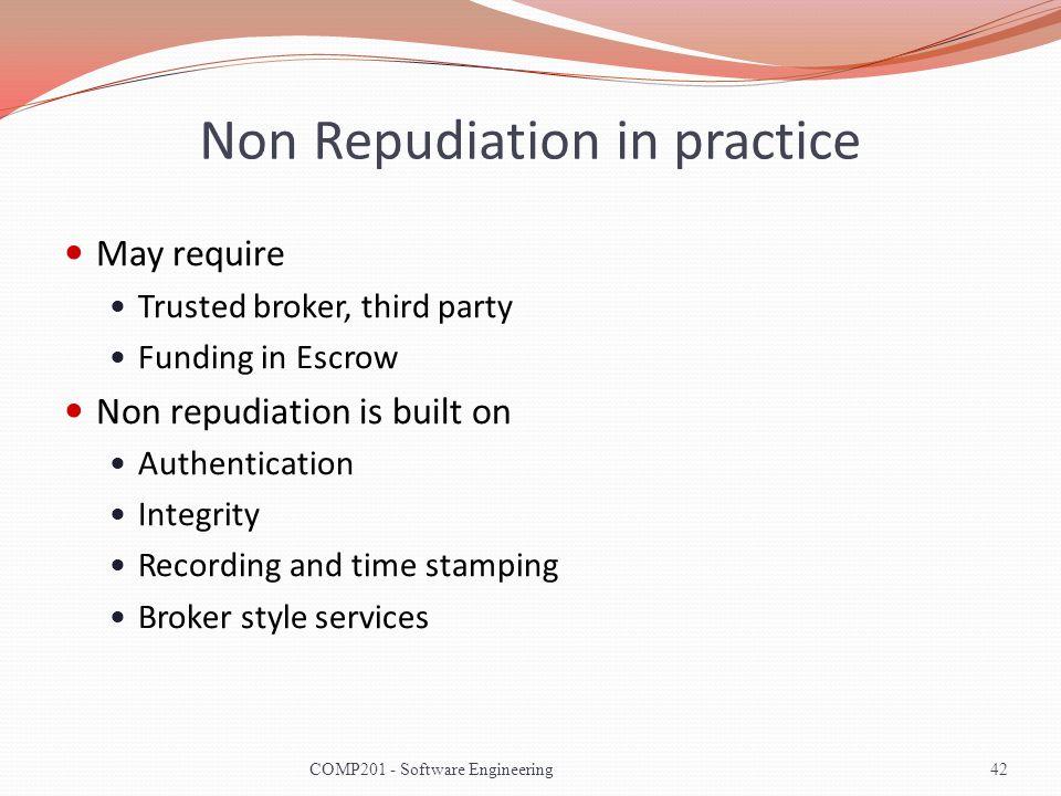 Non Repudiation in practice