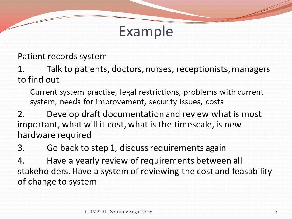 Example Patient records system