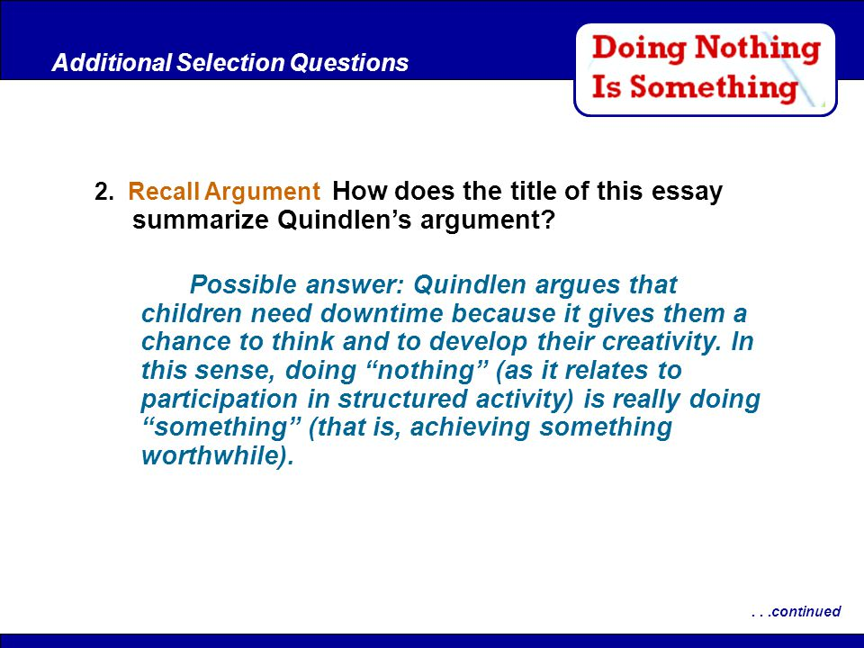 quindlen summary This quiz is meant to assess students' comprehension of the essay homeless by anna quindlen.