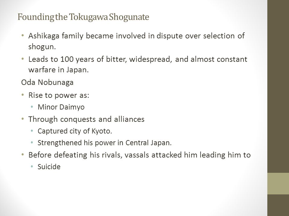 Founding the Tokugawa Shogunate