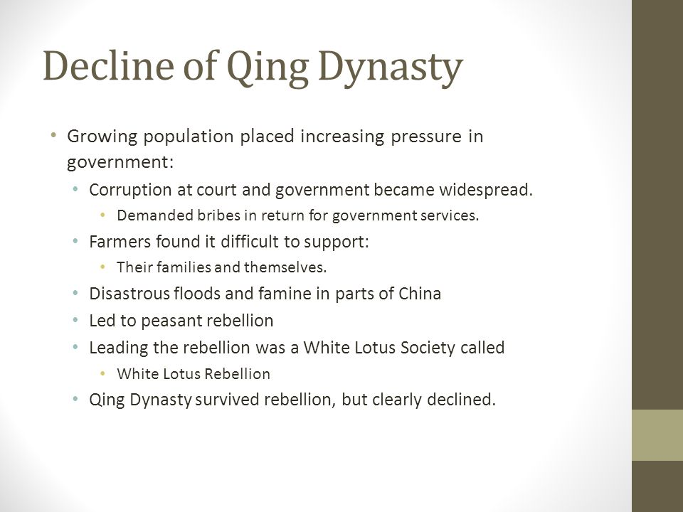 Decline of Qing Dynasty