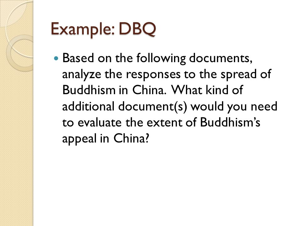 Dbq buddhism s appeal in china