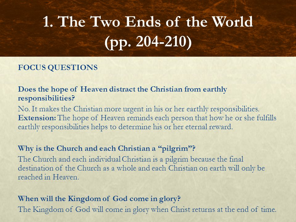 1. The Two Ends of the World (pp. 204-210)