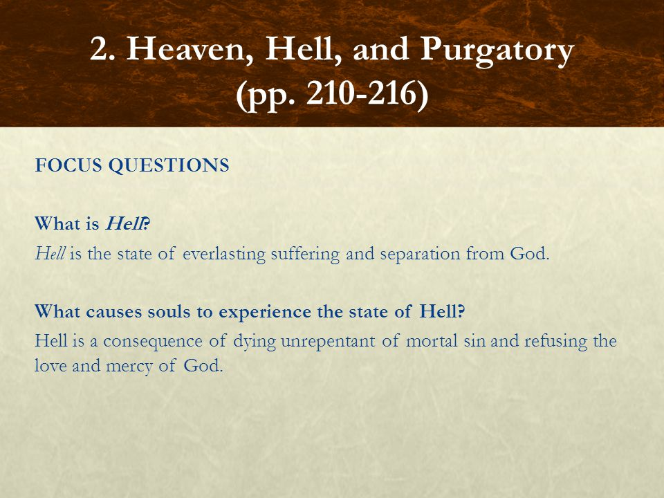 2. Heaven, Hell, and Purgatory (pp. 210-216)