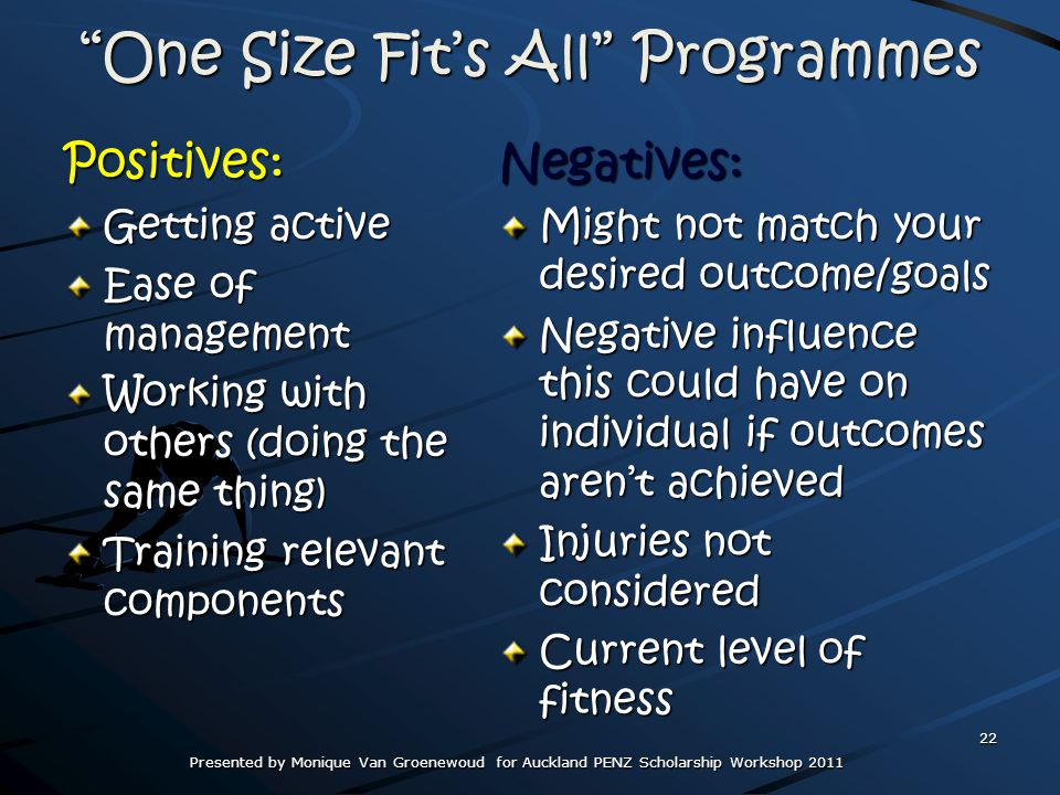 One Size Fit's All Programmes